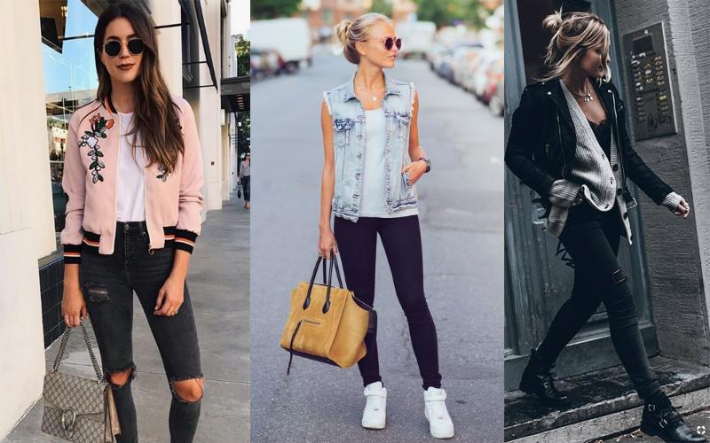 что сочетается с черными джинсами