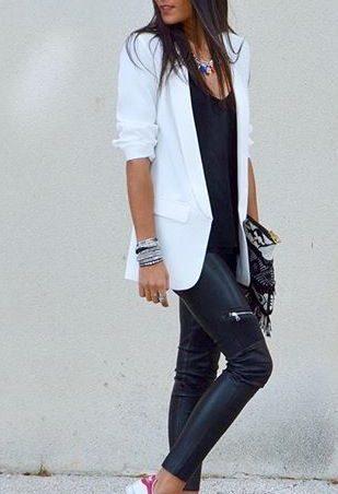 Белые пиджаки | Модные образы, Наряды, Кэжуал наряды | 452x309