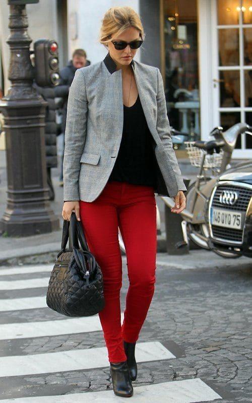 красные брюки (38)