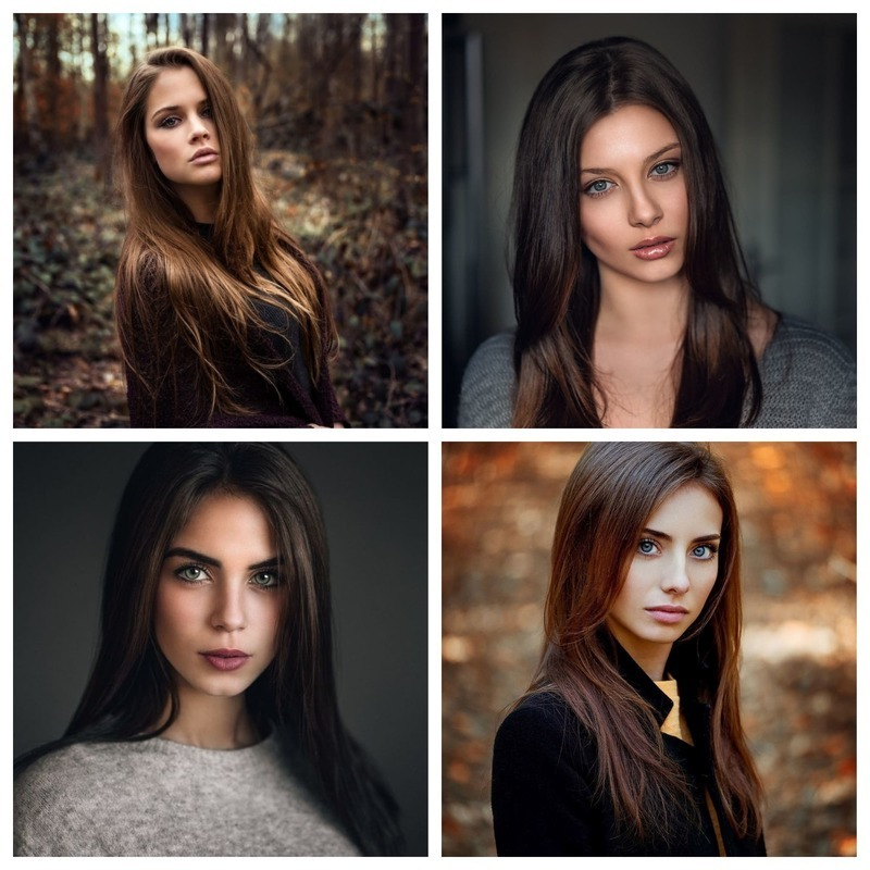 Девушки с темно русыми волосами фото