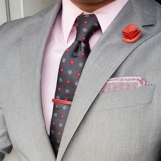 галстук к розовой рубашке