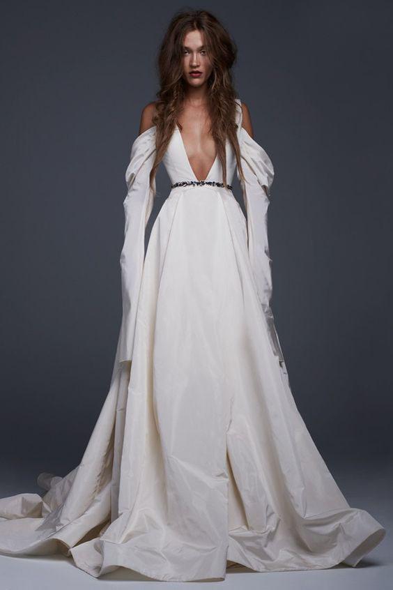 длинное вечернее белое платье