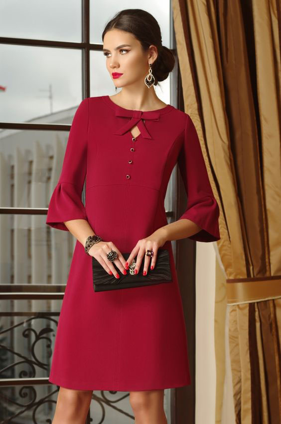 Красное платье трапеция: правила сочетания цветов, подбор обуви и аксессуаров