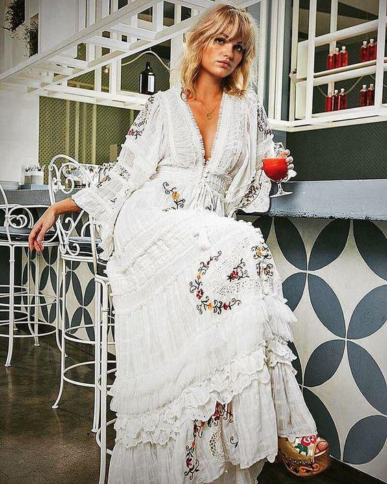 летнее платье бохо