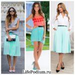 С какими цветами сочетается бирюзовый в одежде: примеры идеальных комплектов по кругу Иттена