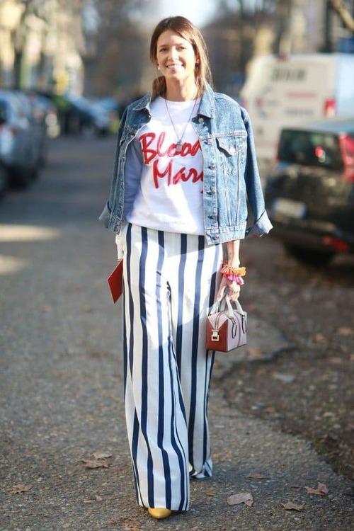 брюки в полоску (55)