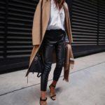 С чем носить кожаные брюки: оттенки, фасоны, тенденции, сочетания с одеждой и обувью